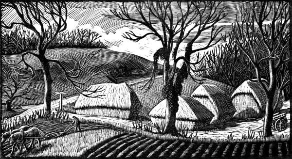 Crossroads or Autumn 1936 by Gwen Raverat