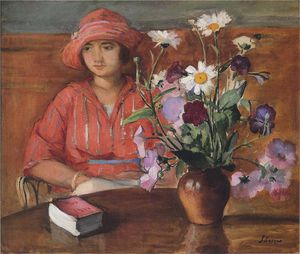 HenriLebasque-YoungGirlwithFlowers-S