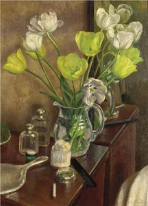 Dod Procter Tulips on the dressing table