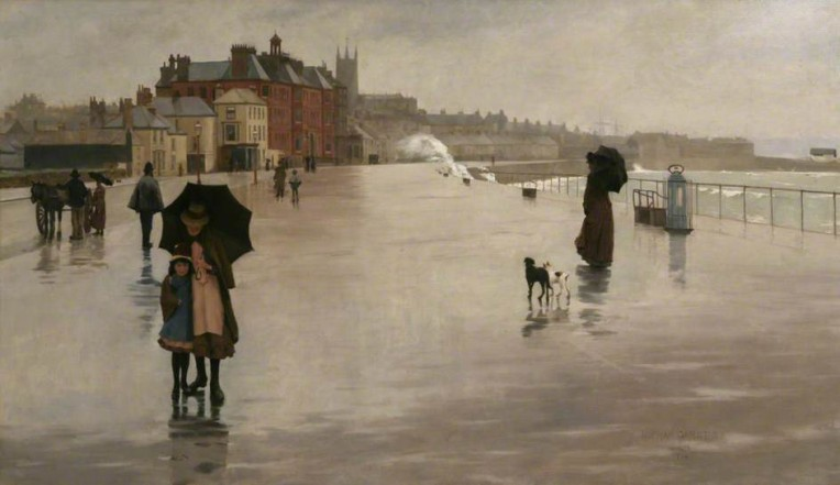 The Rain it Raineth by Norman Garstin 1889
