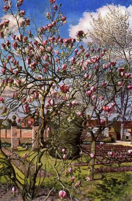 Landscape With Magnolia by Stanley Spencer(1891 - 1959)