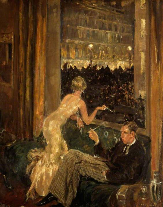 Dugdale, Thomas Cantrell, 1880-1952; The Arrival of the Jarrow Marchers in London, Viewed from an Interior