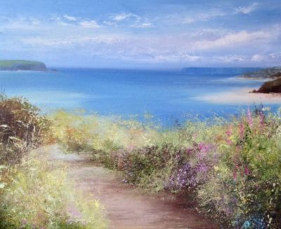 'Summer Path, Padstow' by Amanda Hoskin