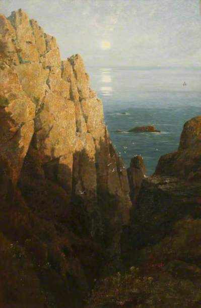 Carter, Richard Harry, 1839-1911; The Rising Moon and Day's Departure