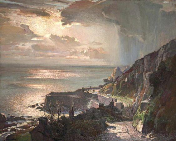 Peggy's Cove Lighthouse Art Print by Raymond Edmonds |Painting Artist Directory Cove
