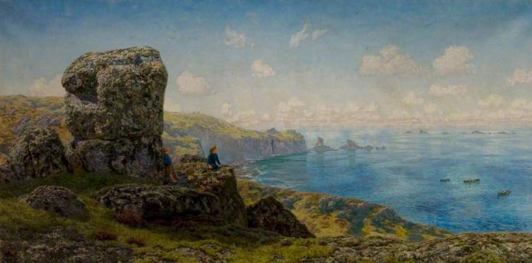 Brett, John, 1831-1902; Golden Prospects, St Catherine's Well, Land's End, Cornwall