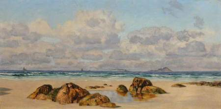 Brett, John; The Beach at Land's End, Cornwall; National Trust, Wightwick Manor; http://www.artuk.org/artworks/the-beach-at-lands-end-cornwall-131496