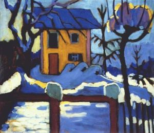 ('House in Winter' by Gabriel Munter)